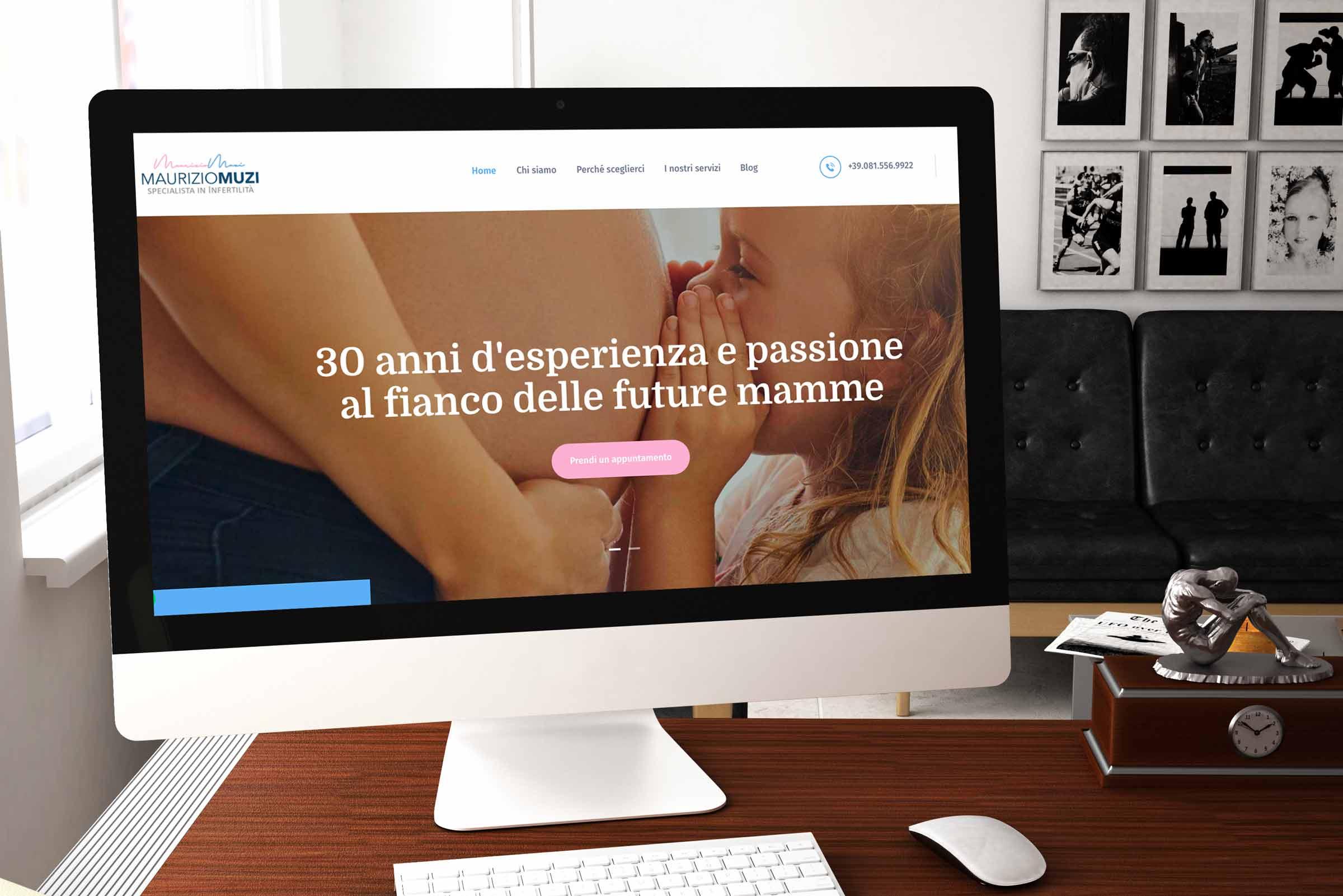 Nuovo sito dello studio per l'infertilità Maurizio Muzi di Napoli